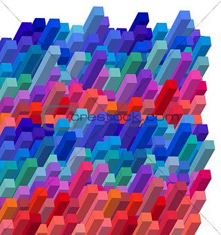 cubical colorful abstract background