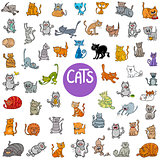 cartoon cat characters big set