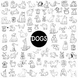 dog characters large set