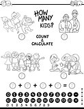 count and calculate game coloring page