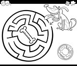 maze with dog coloring page