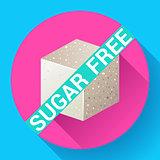 Sugar free icon flat