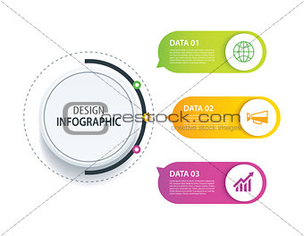 3 infographic design vector and marketing icon.Can be used for w