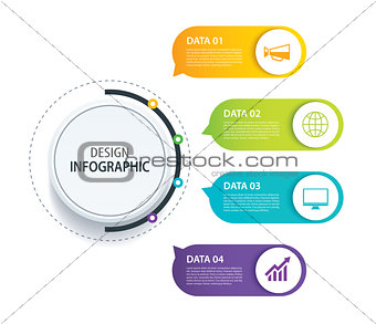 4 infographic design vector and marketing icon.Can be used for w