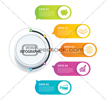 5 infographic design vector and marketing icon.Can be used for w