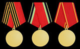 Set of medal on black
