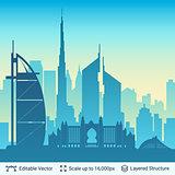 Dubai famous city scape.