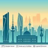 Kuwait famous view.