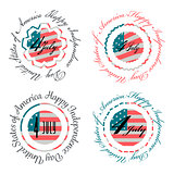 Independence day USA banners