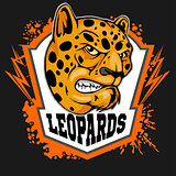 Leopard head mascot for sport team