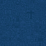 Line House Seamless Pattern