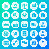 Real Estate Circle Solid Icons