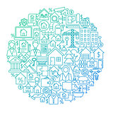 Real Estate Line Circle Design