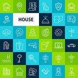 Vector Line House Icons