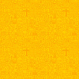 Yellow Line Real Estate Seamless Pattern