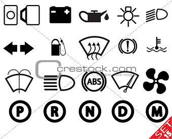 Car part icon set 15