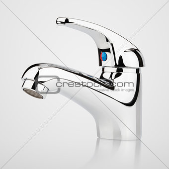 Modern stainless steel tap