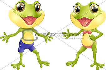 Beautiful humanoid frog