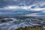 cloudy sunset seascape.