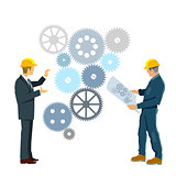 Develop plan work together, illustration