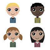 Cartoon children set of avatar
