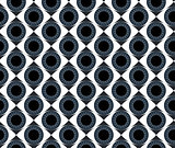 Seamless pattern blue eyes