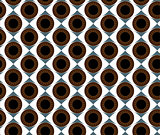 Seamless pattern brown eyes