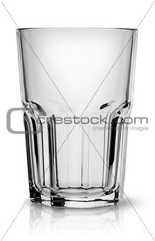 Empty faceted glass for smoothies