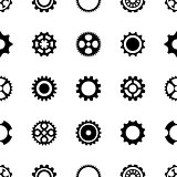 Seamless pattern different gear wheels