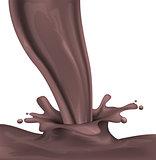 Dark hot chocolate spray and splash