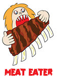 meat eater lover carnivore funny cartoon