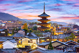 Kyoto, Japan Old Town Cityscape