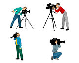 Six videographers set