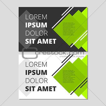 Modern leaflet design