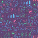 Social Media Colorful Seamless Pattern