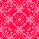 pink floral seamless tiled classic pattern