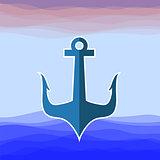 Sea Metal Anchor Silhouette