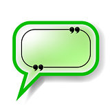 Paper Green Speech Bubble