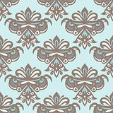 Luxury Damask flower seamless pattern