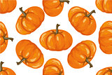 Vegetable pattern. Pumpkin seamless background.