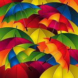 Close up umbrellas background
