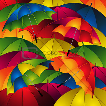 Close up umbrellas background