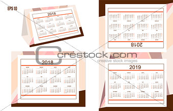 Business american desk calendar year 2018, 2019