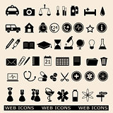 set of the medicine web icons