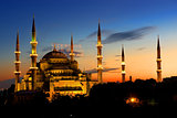Illuminated Blue Mosque