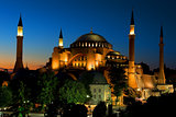 Illuminated Hagia Sophia