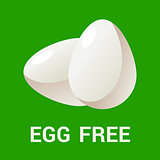 Egg free logo icon Flat vector illustration for eco, organic, bio theme