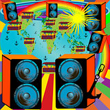 Abstract background design for party