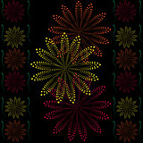 Dark abstract flower background