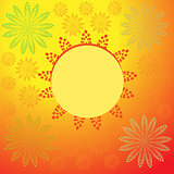 Bubble icon with abstract flower background